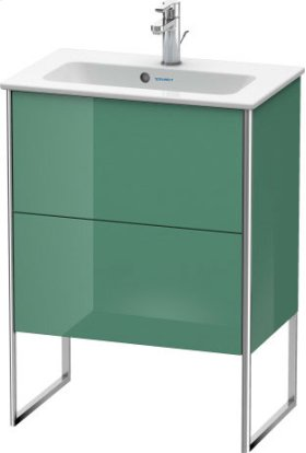 Vanity Unit Floorstanding Compact, Jade High Gloss Lacquer