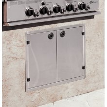 GE Monogram® Outdoor Cooking Center Stainless Steel Doors for Built-In Island or Enclosure
