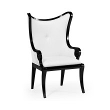 """Black Painted """"Butterfly"""" Upholstered Armchair - COM"""