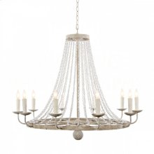 Naples Medium White Chandelier