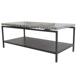 Avon KD Coffee Table Graphite Metal Frame, Mosaic