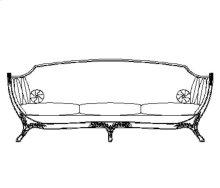 Empire Style Sofa (Gold Leaf/Velvet Fuchsia)