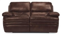Dylan Leather Reclining Loveseat without Chaise Footrests