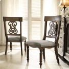 Belmeade - Scroll Upholstered Side Chair - Old World Oak Finish Product Image