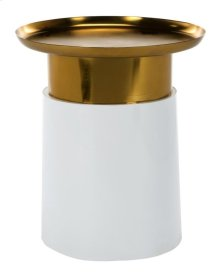 Zenith Tray Top Side Table - White / Gold
