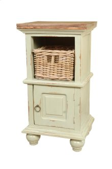 Sunset Trading Cottage End Table with Basket - Sunset Trading