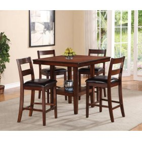 5 Piece Set - Pub Table With Four Side Chairs