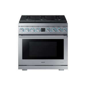 "Samsung Appliances6.3 cu. ft. 36"" Chef Collection Professional Dual Fuel Range in Stainless Steel"