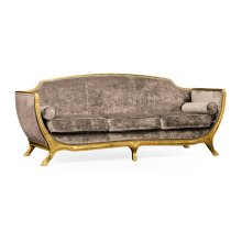 Empire Style Sofa (Gold Leaf/Velvet Truffle)