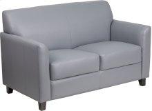 HERCULES Diplomat Series Gray Leather Loveseat
