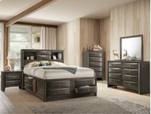 Emily King Captains Bed Hb/fb Grey