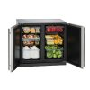 "U-Line Modular 3000 Series 36"" Solid Door Refrigerator With Stainless Solid Finish And Double Doors Door Swing (115 Volts / 60 Hz)"