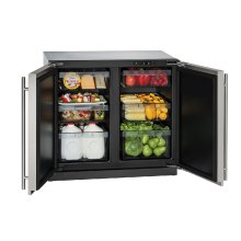 "Modular 3000 Series 36"" Solid Door Refrigerator With Stainless Solid Finish and Double Doors Door Swing (115 Volts / 60 Hz)"