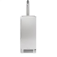 15 Inch Stainless Solid Door Beverage Dispenser - Left Hinge Stainless Solid