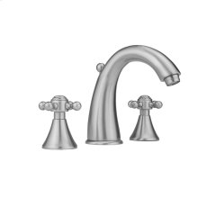 Antique Brass - Cranford Faucet with Ball Cross Handles & Fully Polished & Plated Pop-Up Drain