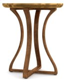 Living Room Gold Bois Round Accent Table Product Image