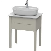 Vanity Unit For Console Floorstanding, Taupe Satin Matt Lacquer
