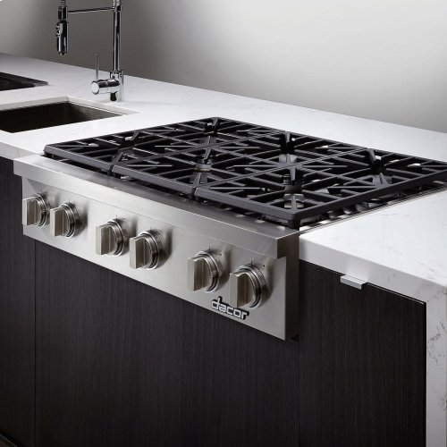 """Discovery 48"""" Gas Rangetop,, in Stainless Steel with Natural Gas"""