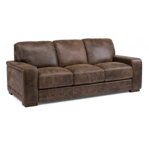 FLEXSTEELBuxton Leather Sofa