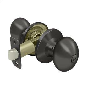 Egg Knob Privacy - Oil-rubbed Bronze