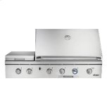 "Dacor52"" Outdoor Grill with Infrared Sear Burner, Stainless Steel, Natural Gas"