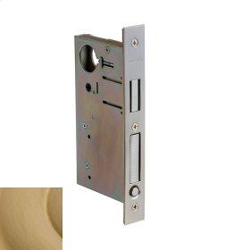 Vintage Brass 8632 Pocket Door Lock with Pull