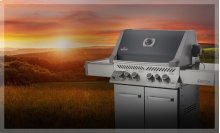 Prestige® 500 with Infrared Side and Rear Burners in Charcoal Grey