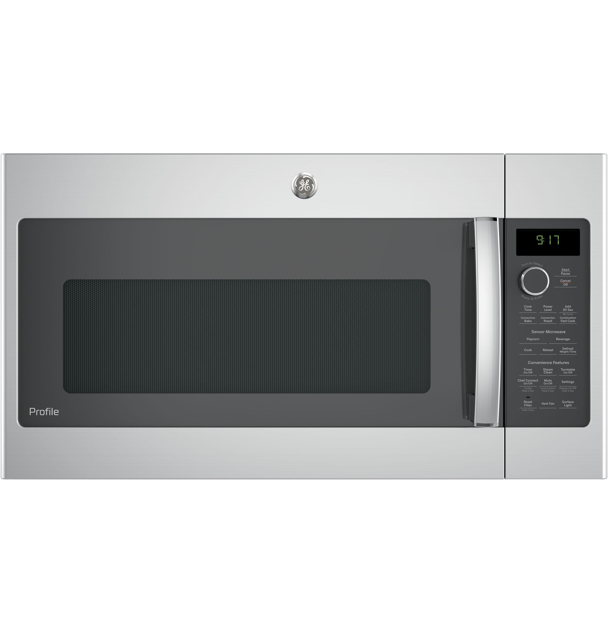 GE Profile(TM) Series 1.7 Cu. Ft. Convection Over-the-Range Microwave Oven  STAINLESS STEEL