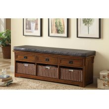 Traditional Medium Brown Bench