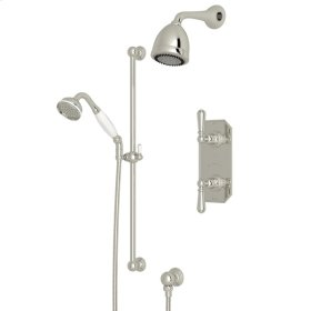 Polished Nickel Edwardian U.KIT52L Thermostatic Shower Package with Edwardian Metal Lever