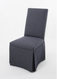 A straight top skirted chair