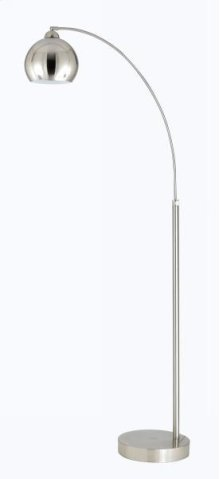 100W arc floor lamp with metal shades and on off foot switch