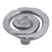 Scroll Knob 1 1/2 Inch - Pewter