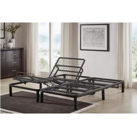 Split CK Twin Adjustable Bed Frame With Wireless Remote Controls (2-Piece)