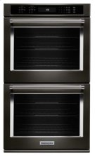 """27"""" Double Wall Oven with Even-Heat True Convection - Black Stainless Product Image"""