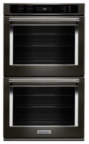 "27"" Double Wall Oven with Even-Heat True Convection - Black Stainless Product Image"