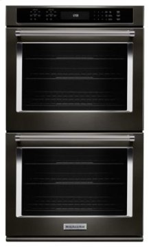 "27"" Double Wall Oven with Even-Heat™ True Convection - Black Stainless"