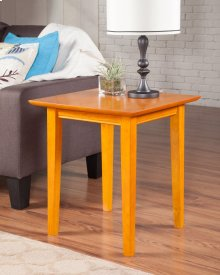 Shaker End Table Caramel Latte