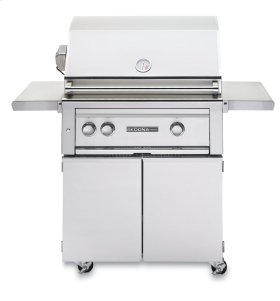 """30"""" Sedona by Lynx Freestanding Grill - 2 SS Tube Burners with Rotisserie NG - Ships Assembled"""