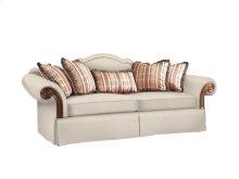 Sofa with Wood Arm Panel