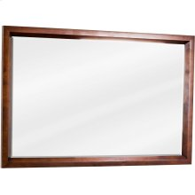"42"" x 28"" Rectangle mirror with beveled glass and Mahogany finish."