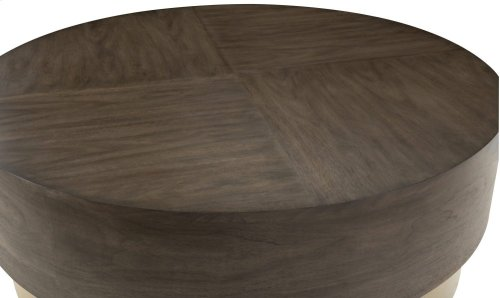 Profile Round Cocktail Table in Warm Taupe (378)