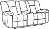 La Crosse Fabric Gliding Reclining Loveseat with Console