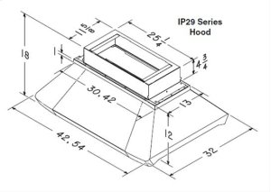 "Centro Island - 54"" x 32"" Stainless Steel Island Range Hood with internal/external blower options"