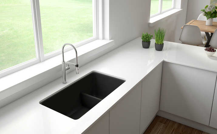 Blanco Precis Reversible 134 Bowl With Low Divide  Cinder Blanco Cinder Sink C29