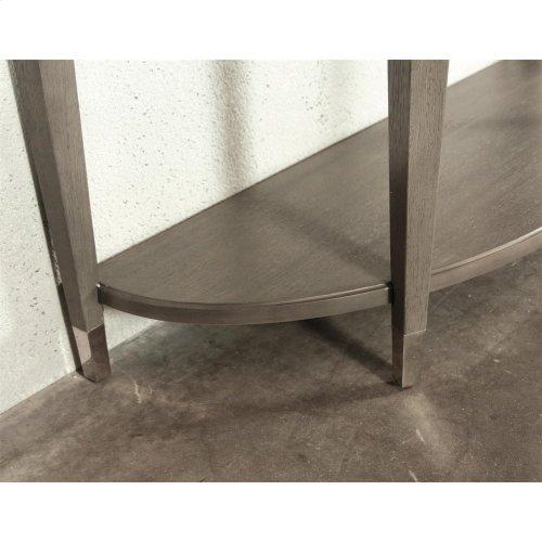 Dara Two - Demilune Sofa Table - Gray Wash Finish