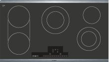 """36"""" Electric Cooktop 800 Series - Black with Stainless Steel Frame NET8666SUC"""
