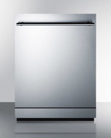 """24"""" Wide Energy Star Certified ADA Compliant Dishwasher Made In Europe With Stainless Steel Door and Top Controls"""