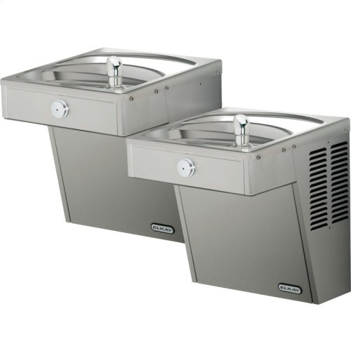 Elkay Cooler Wall Mount Bi-Level ADA Vandal-Resistant Filtered, Non-Refrigerated Stainless