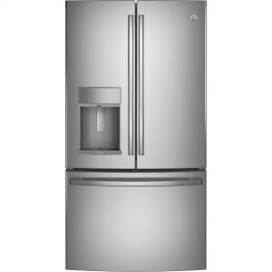 GE Profile™ Series ENERGY STAR® 22.1 Cu. Ft. Counter-Depth French-Door Refrigerator with Hands-Free AutoFill - STAINLESS STEEL